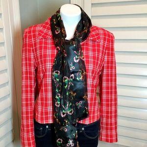 Pendleton Vintage Plaid Jacket, Free Scarf, 10